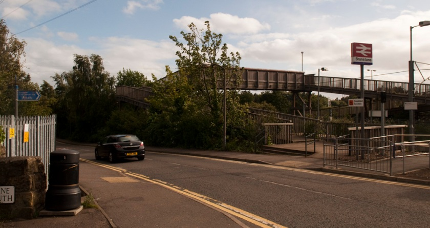 This is a railway station platform, NCN 1 Edinburgh.