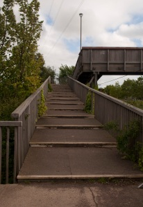 This is a flight of steps, NCN 1, Edinburgh.