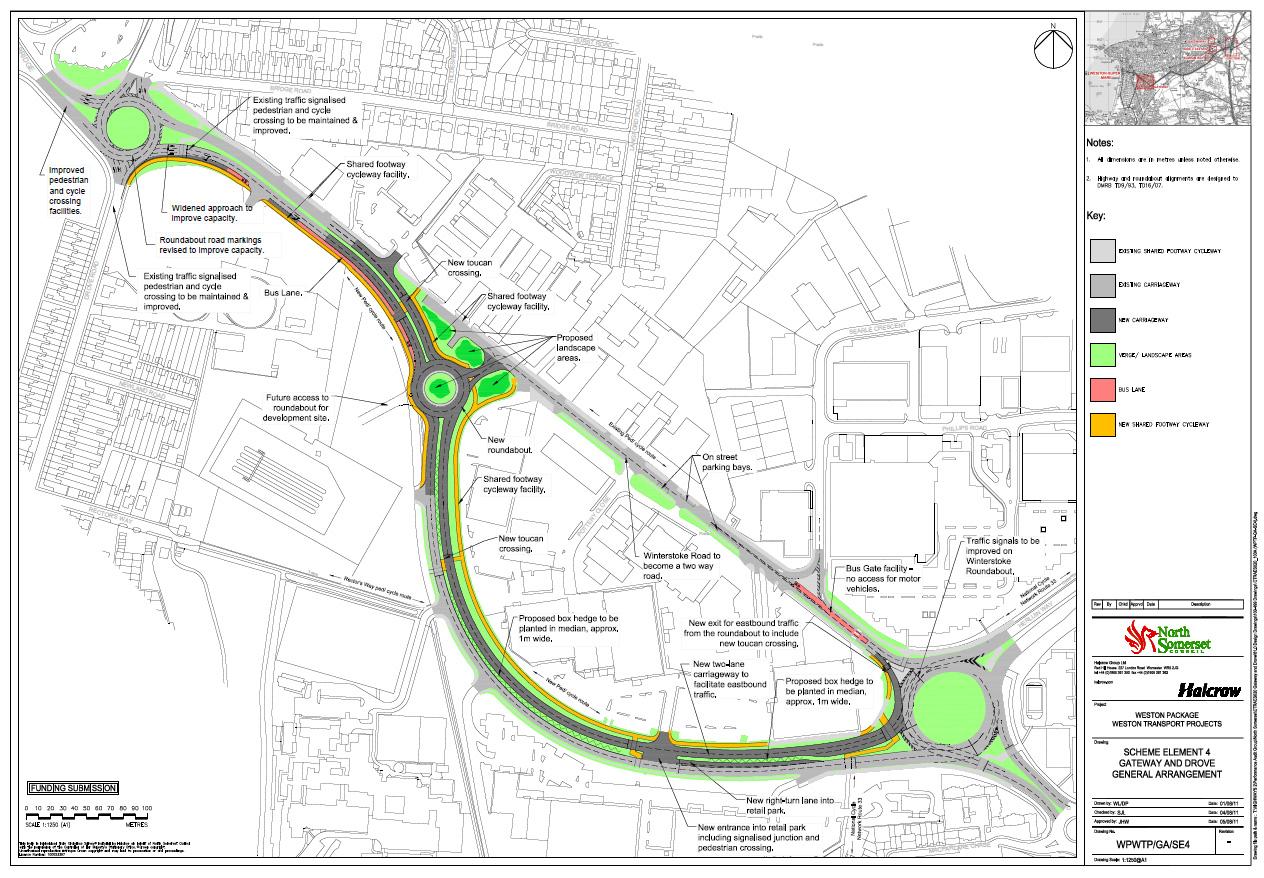 Of the Cross Airfield Link Road, proposed to open a large brownfield ...